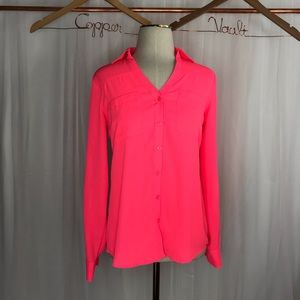 "Express ""The Portfolio Shirt"" In Highlighter Pink"